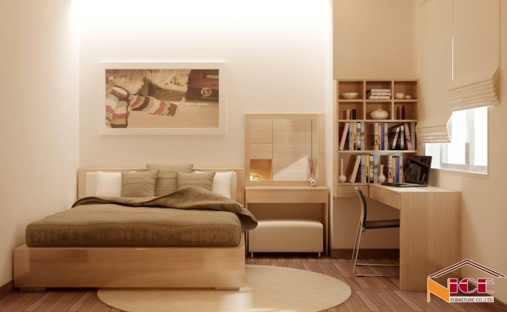 xắp xếp phòng ngủ rộng rãi