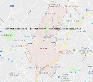 Hình ảnh bản đồ phường an bình, dĩ an, bình dương