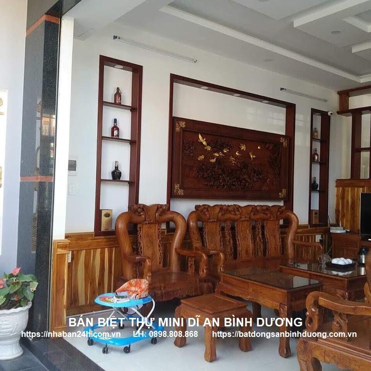 Không gian nội thất sang trọng của căn biệt thự góc 2 mặt tiền dĩ an
