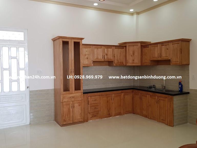 Phòng bếp nội thất cao cấp gỗ sồi nga
