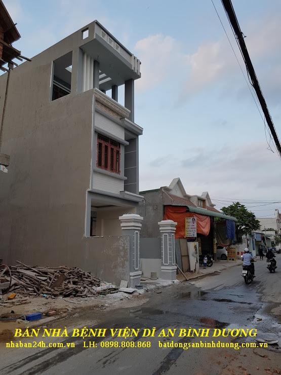 Căn nhà đang vào hoàn thiện tại bệnh viện dĩ an