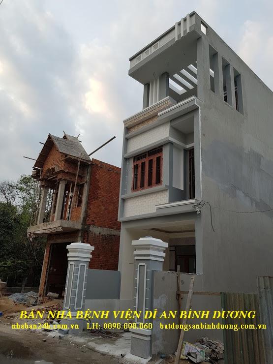 Một góc mặt tiền căn nhà bán dĩ an bình dương