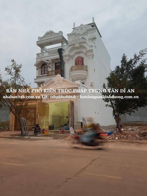 Mấu nhà phố kiến trúc tân cổ điển 2018 tại dĩ an bình dương