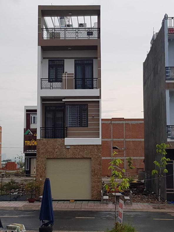 Mặt tiền mẫu nhà phố đẹp 5x12m nhà 4 tầng tại dĩ an bình dương