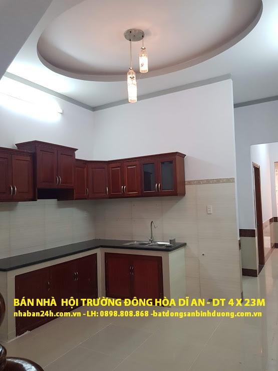 Phòng bếp căn nhà bán dĩ an bình dương