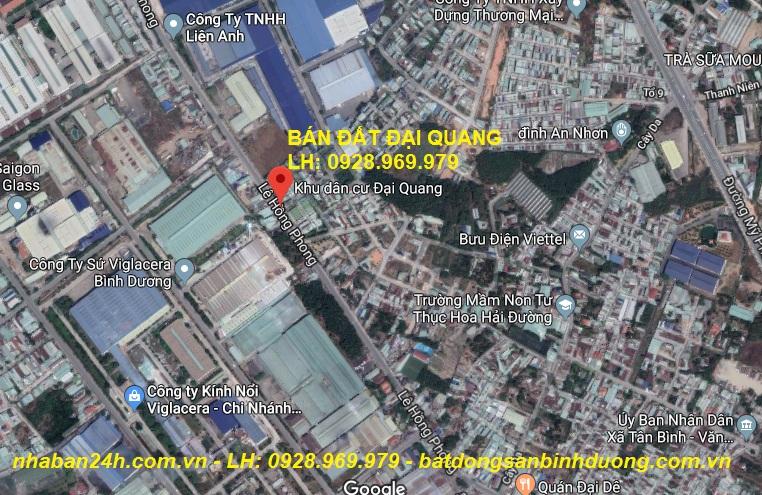 Bán đất Đại Quang Dĩ An, DT 4 X17m, Gần chợ Đại Quang