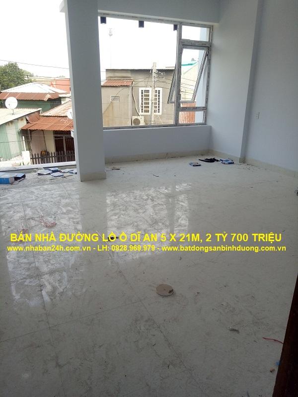 Phòng ngủ nhà bán dĩ an 5x21m rộng rãi thoáng mát
