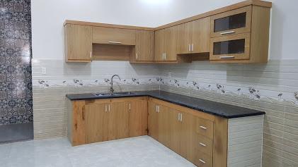 Phòng bếp nhà bán dĩ an 3 tầng nội thất gỗ cao cấp