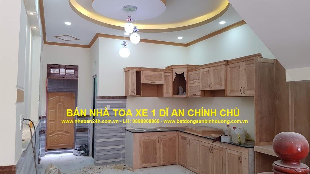 phòng bếp nhà bán toa xe dĩ an