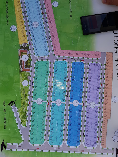 Bản đồ khu nhà ở phú hồng thịnh 8 thuận an