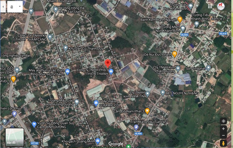 Bán đất Khánh Bình 06 Tân Uyên Bình Dương DT: 198M, giá 2 Tỷ